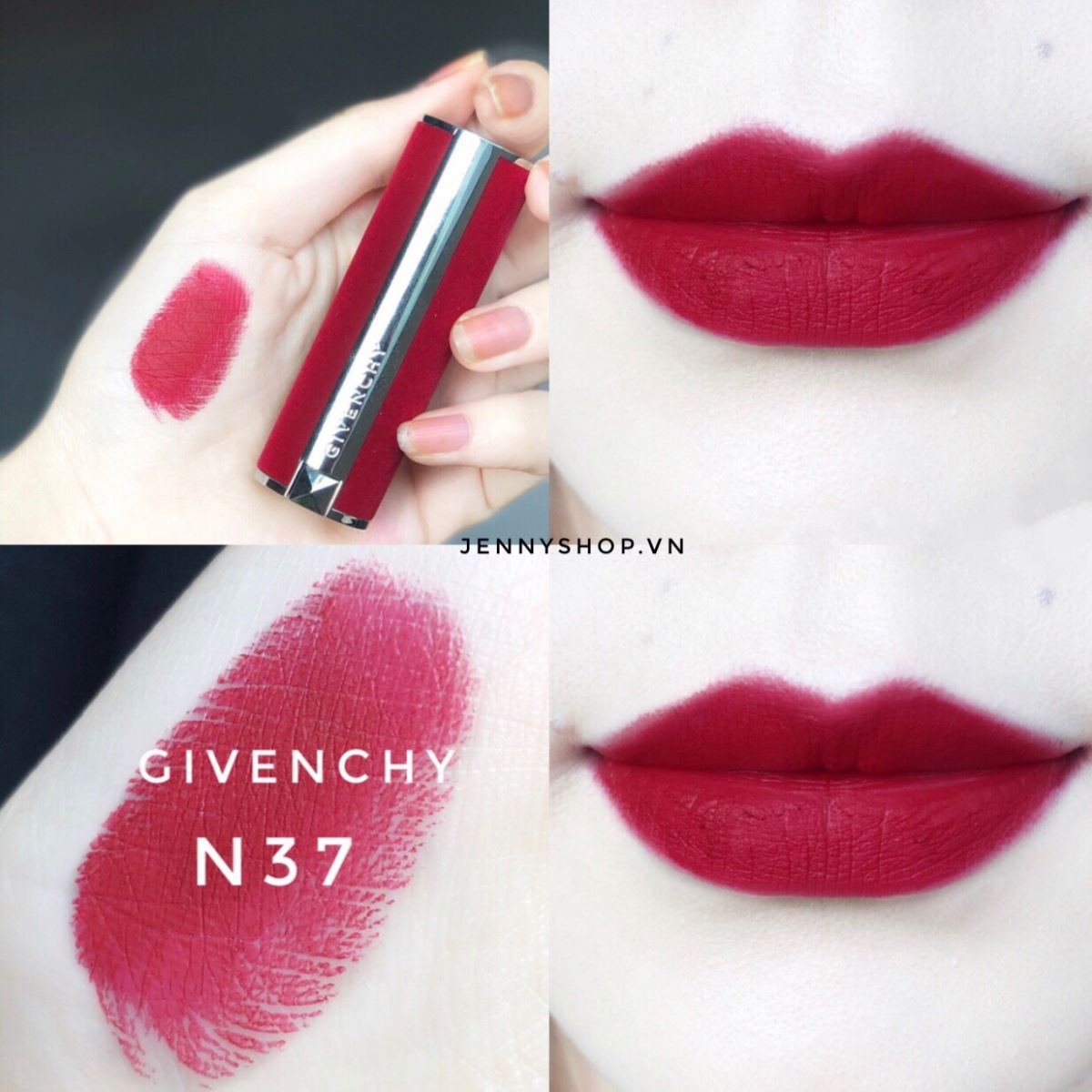 Son Thỏi Givenchy Le Rouge Deep Velvet Powdery Matte High Pigmentation Limited Editon