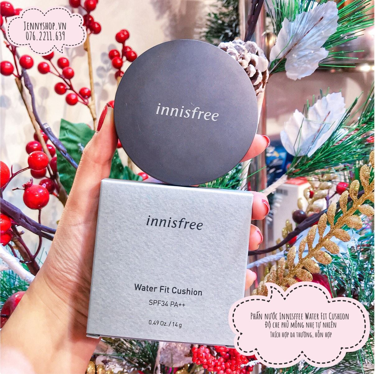 Phấn Nước Innisfree Water Fit Cushion SPF34 PA++