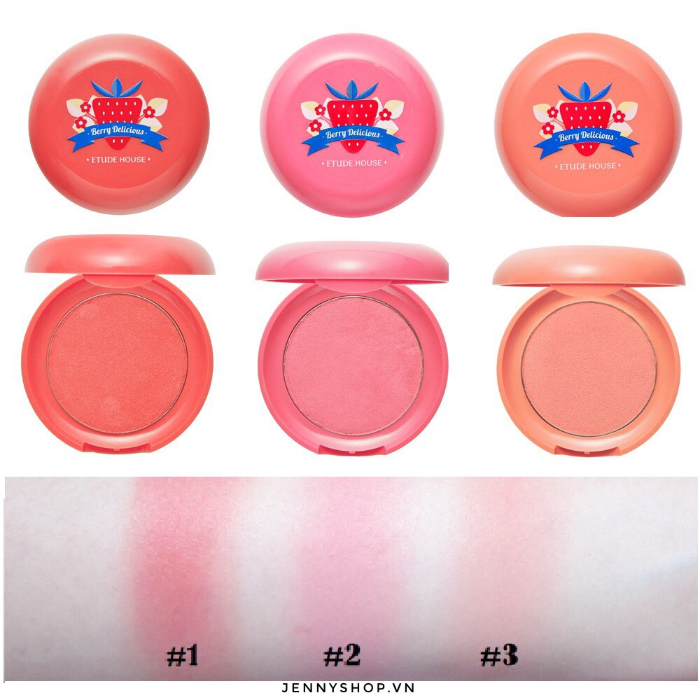 Má Hồng Dạng Kem Etude House Berry Delicious Cream Blusher