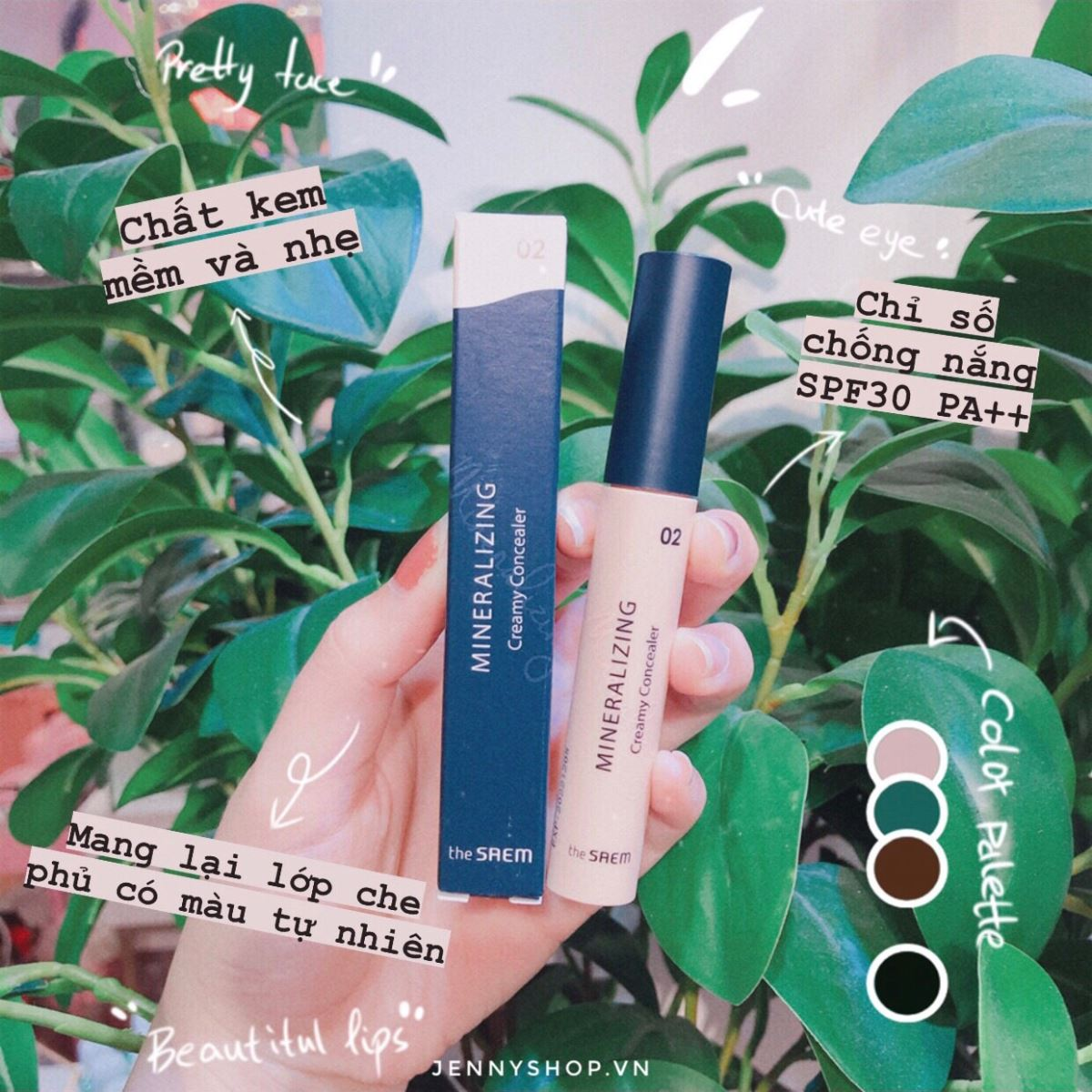 Kem Che Khuyết Điểm The Saem Mineralizing Creamy Concealer SPF30 PA++