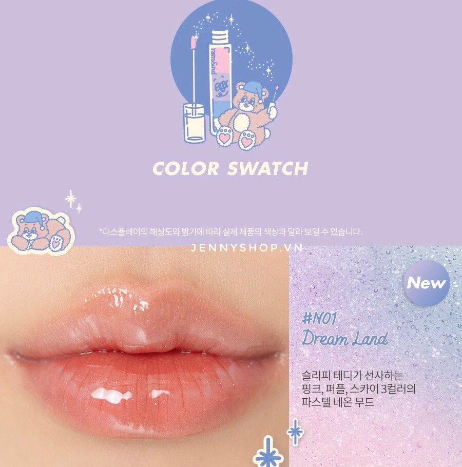 Son Tint Bóng Romand Glasting Water Tint Limited Edition [Rom&nd x Neonmoon]