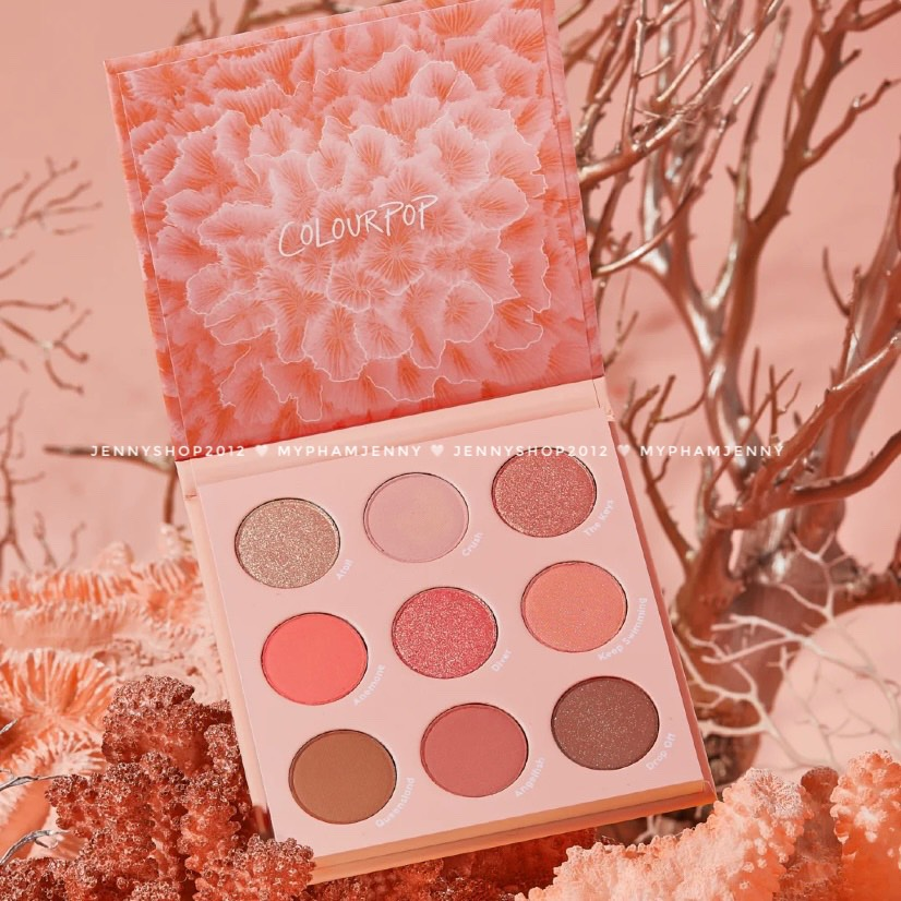 Bảng Phấn Mắt 9 Ô Colourpop Coast To Coral Eyeshadow Palette