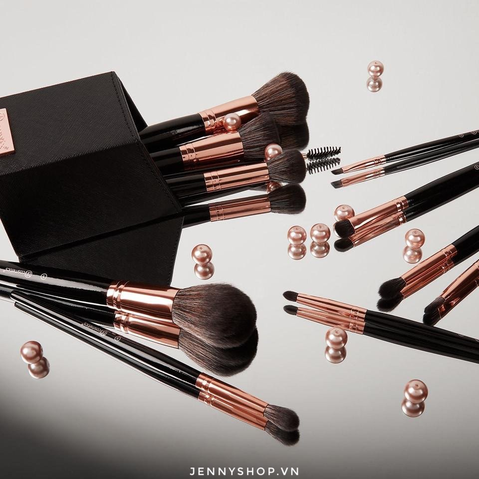 Bộ Cọ Trang Điểm 13 Cây BH Cosmetics Signature Rose Gold - 13 Piece Brush Set With Holder