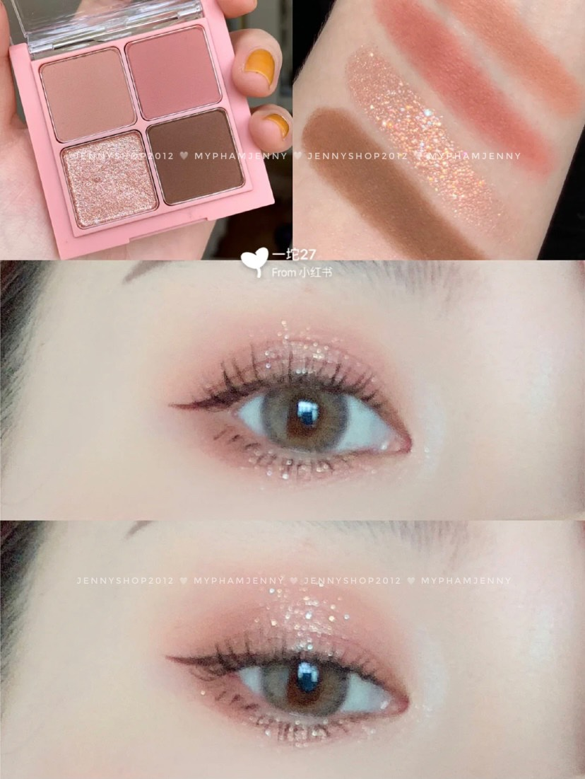 Bảng Phấn Mắt 4 Ô Romand Better Than Eyes
