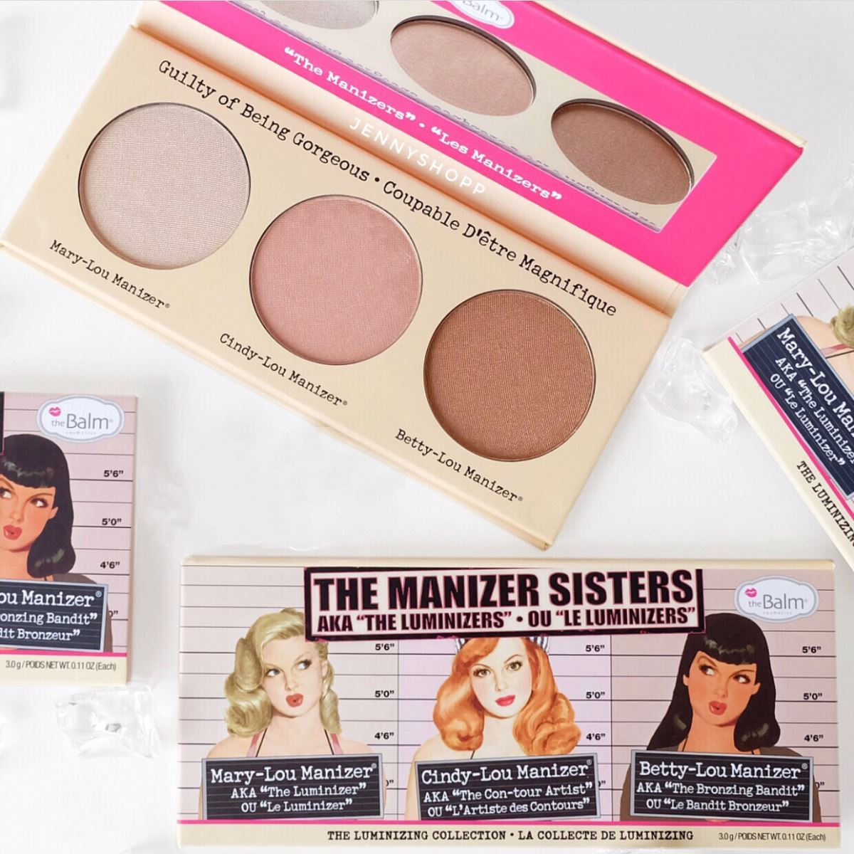 Bảng Phấn Highlight 3 Ô The Balm The Manizer Sister The Luminizing Collection