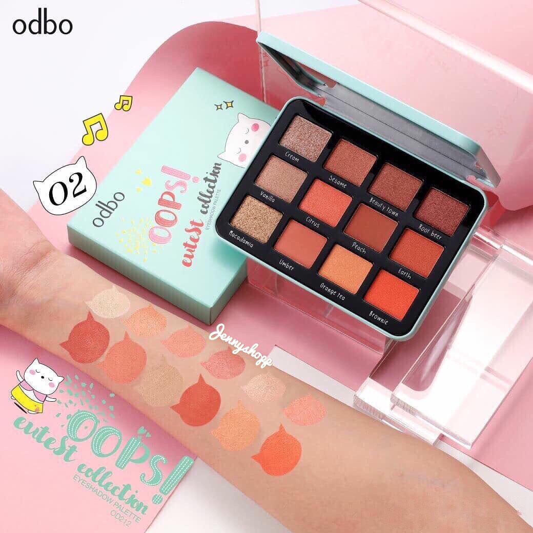 Bảng Phấn Mắt 12 Ô Odbo Oops! Cutest Collection Eyeshadow Palette