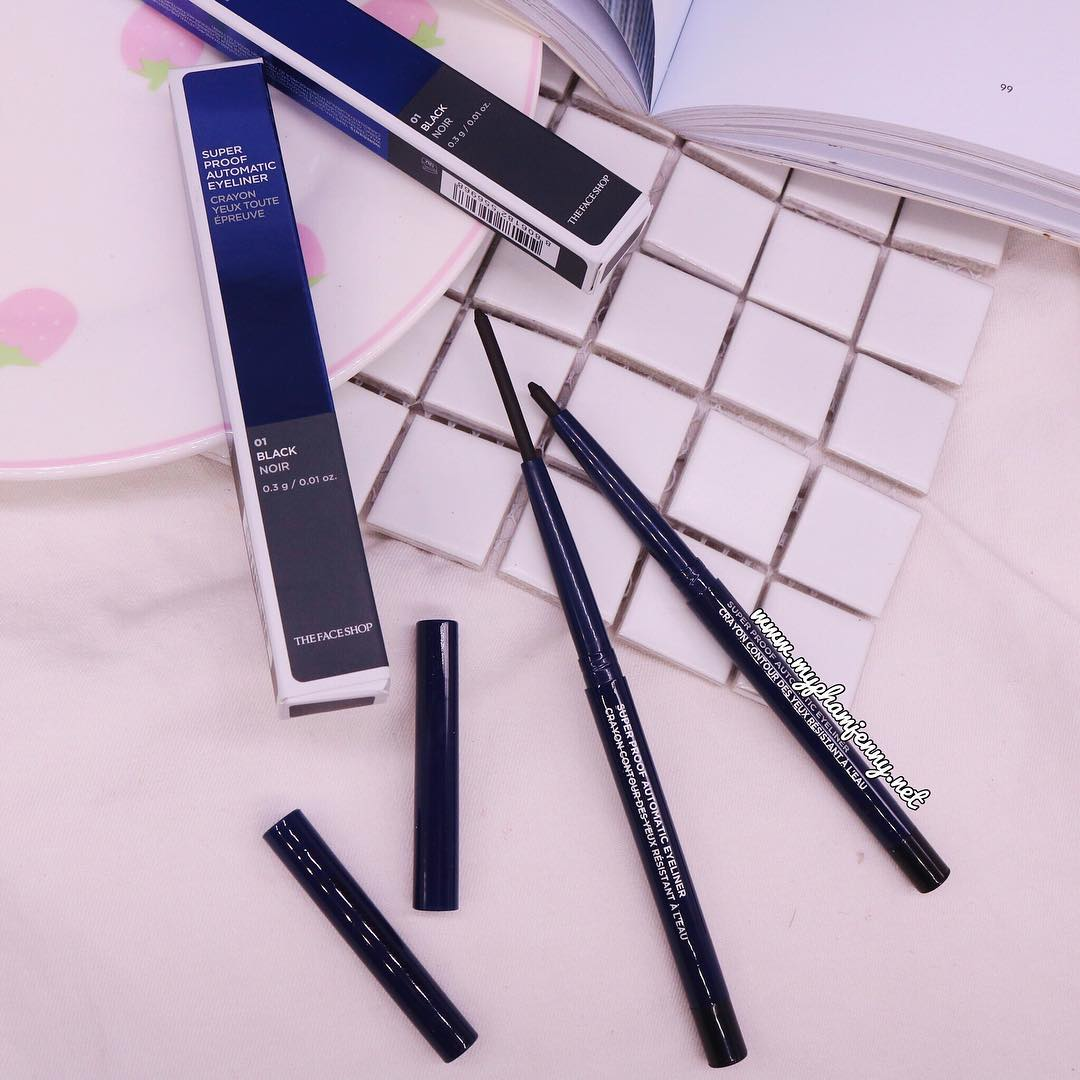 Chì Kẻ Mắt The Face Shop Superproof Automatic Eyeliner new 2017