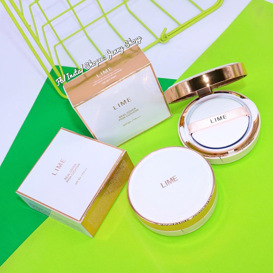 Phấn Nước LIME Real Cover Pink Cushion SPF 50+/ PA+++