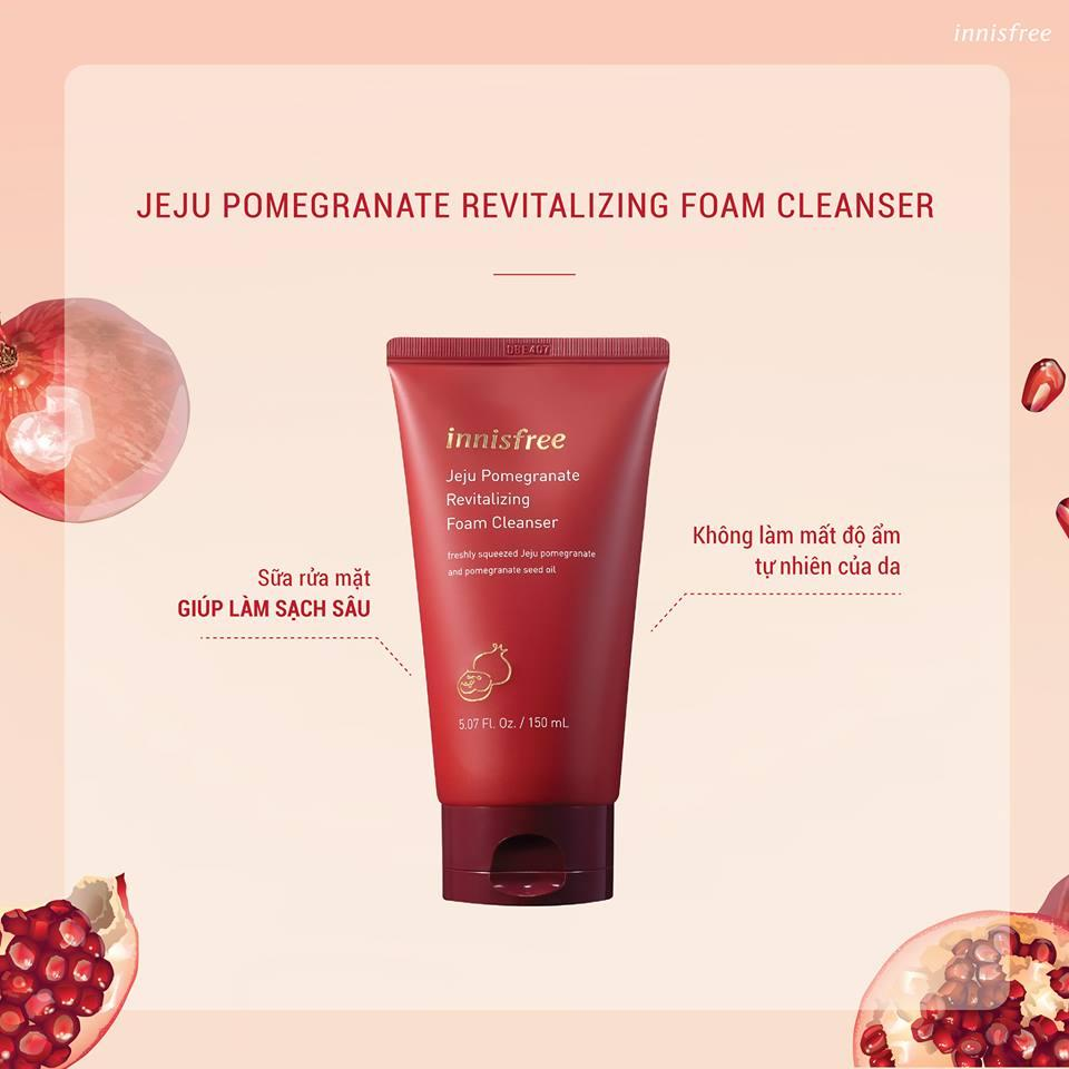 Sữa Rửa Mặt Innisfree Jeju Pomegranate Revitalizing Foam Cleanser